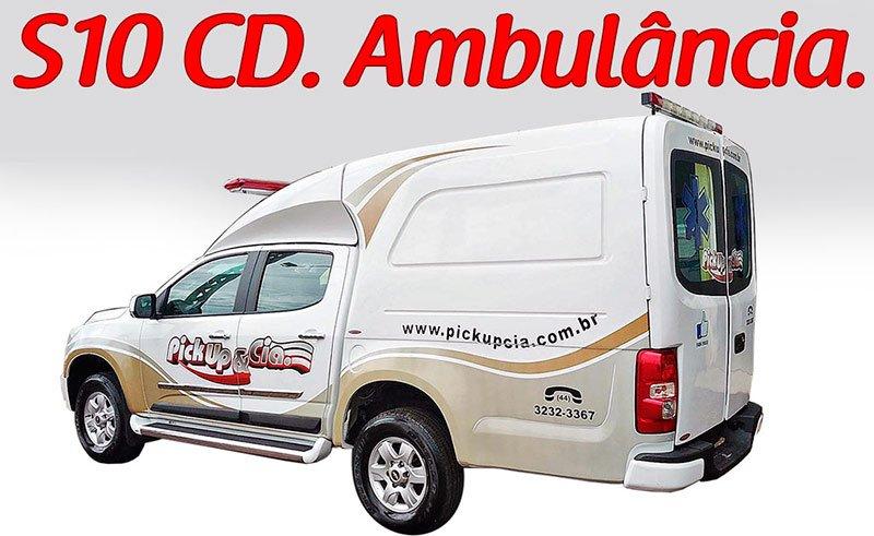 adaptação de ambulancia s10 dupla
