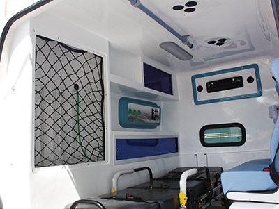ambulancia interno de fibra