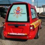 saveiro ambulancia de fibra, transformação de fibra para ambulancia.