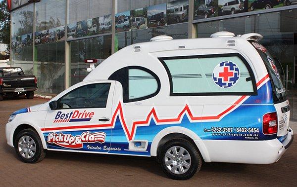 ambulancia saveiro simples remoção