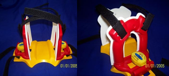 apoio de cabeça imobilização em plastico polietileno